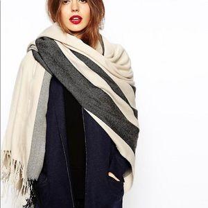 ASOS oversized striped scarf